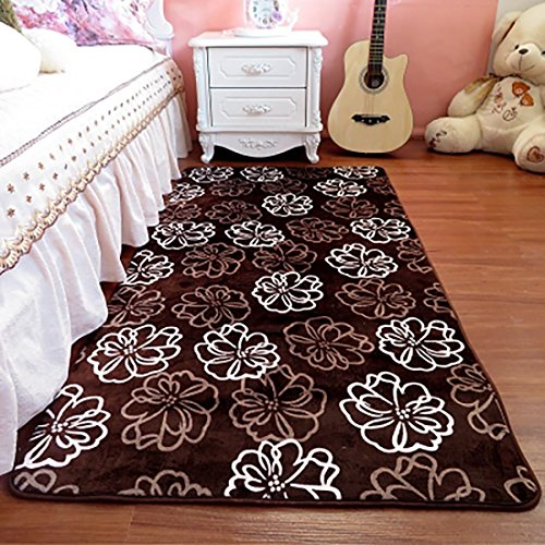SANNIX Rectangle Modern Shabby Flannel Area Rug Ultra Soft Decorative Bedside Anti Skid Rugs for Bedroom Living Room 15.76