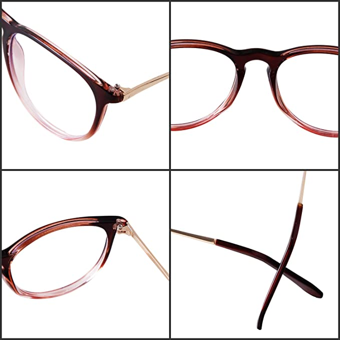 Vintage Round Frame GIFIORE Blue Light Blocking Glasses Anti Glare Fatigue Blocking Headaches Eye Strain Eyeglasses for Women Men