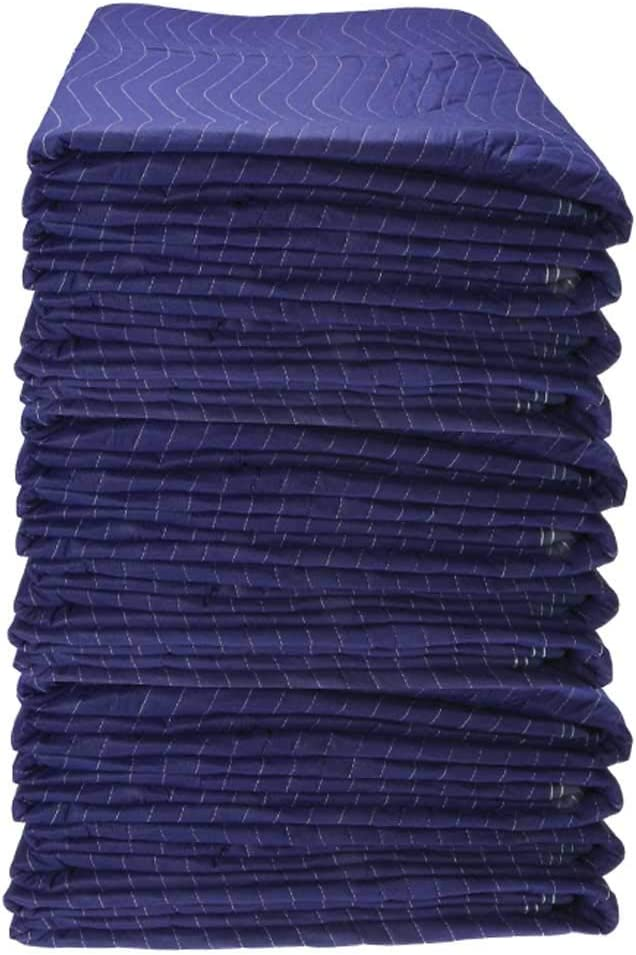 US Cargo Control Econo Saver Moving Blankets - 80 Inches Long By 72 Inches Wide - Blue Non-Woven Polyester Material - Moving Pads Provide Protection During A Move Or While In Storage - 12 Pack