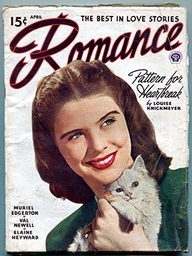 (Romance Pulp April 1946- Pattern for Heartbreak- Kitten cover VG )