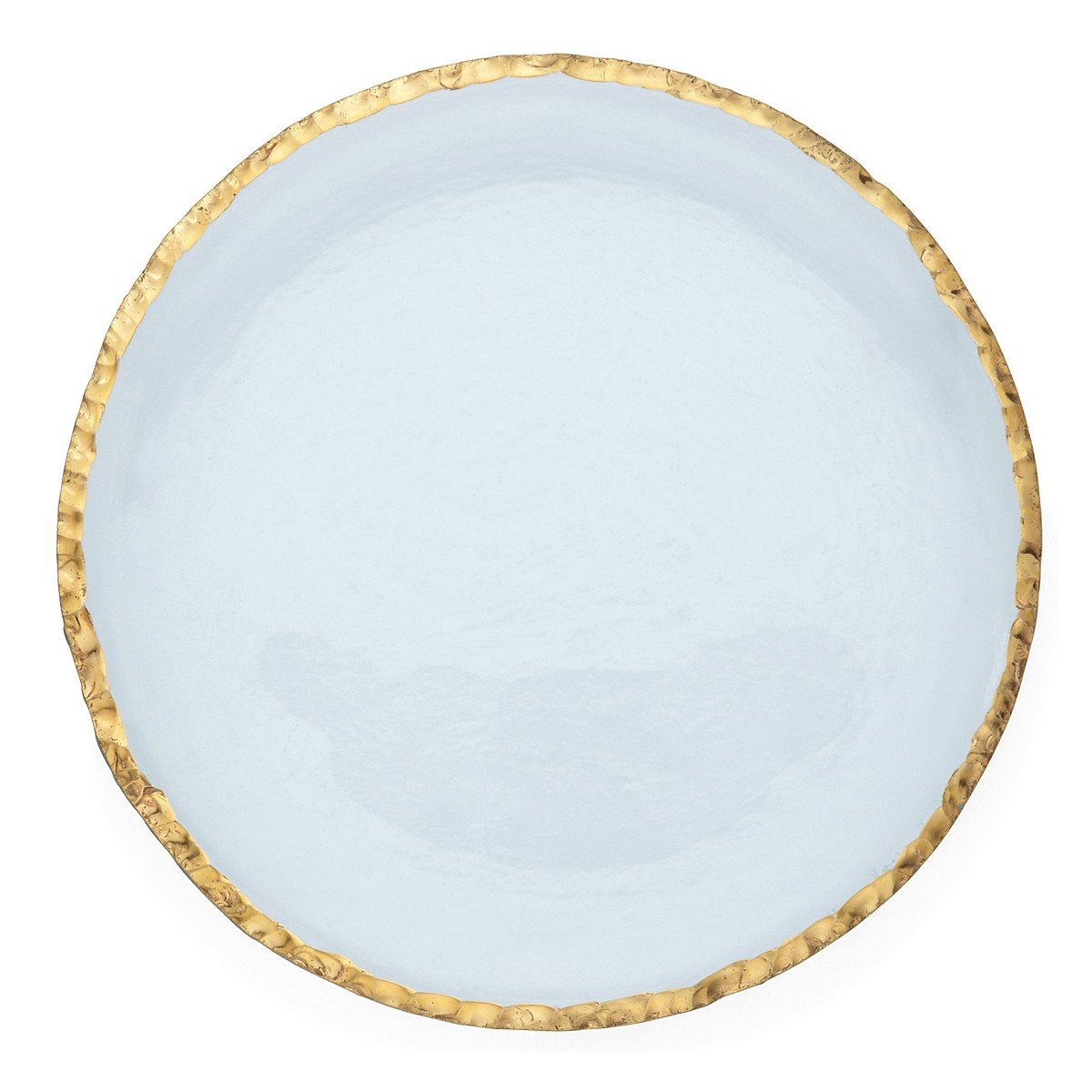 Annie Glass Edgey Gold Charger plate 12'' round platter #e108g