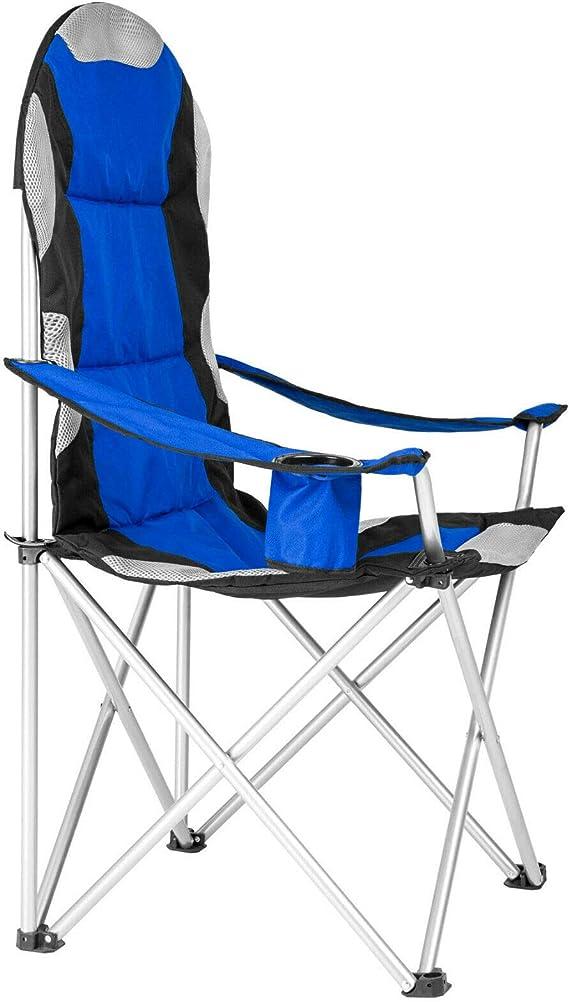 Lumiereholic Chaise de Camping Fauteuil Pliable Fauteuil de p/êche Chaise Pliante de P/êche Portable Rembourrage en Mousse avec Porte-Boisson Sac de Transport pour Festival Fete Barbecue
