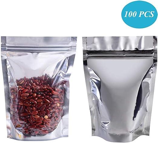 Size Choice Option 50 Kraft Pouch Coffee//Tea Dry Food Storage Bags Foil Bags