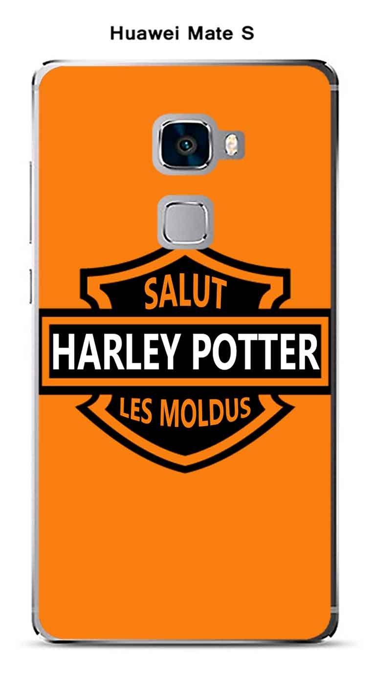 Carcasa Huawei Mate S Design Harley Potter fondo naranja ...
