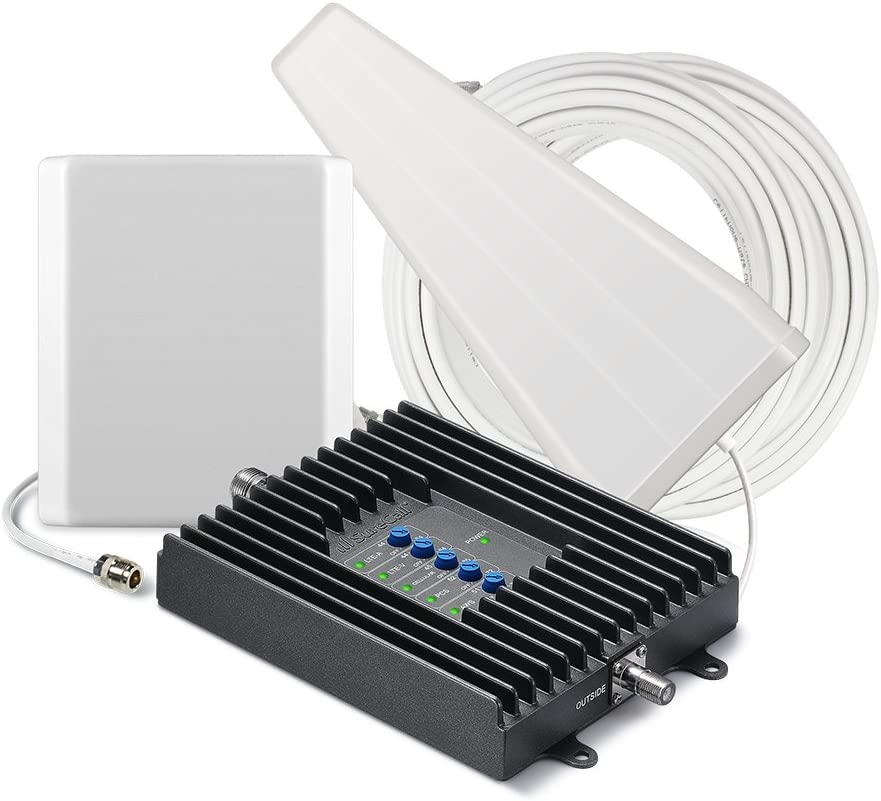SureCall Fusion4Home Cell Phone Signal Booster for Home Yagi/Panel Antenna Configuration | Covers up to 4000 sq ft | Boosts Voice, data for 4G, LTE, 3G