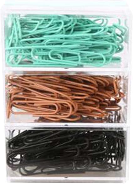 Clips de papel de colores Clip de papel creativo, 50mm, 70 / caja, 3 cajas: Amazon.es: Oficina y papelería
