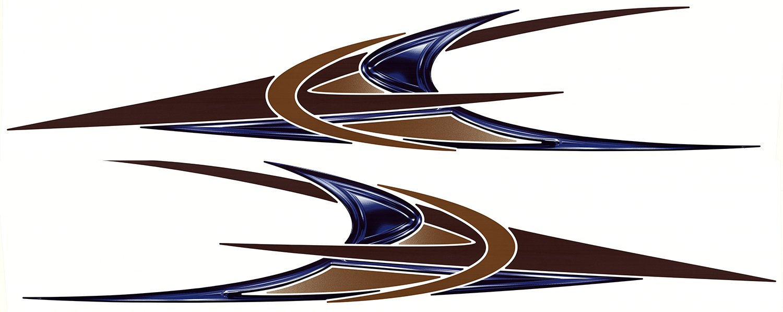 Amazon com 2 new boat rv trailer navistar graphic decals automotive