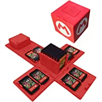 16 in 1 Game Card Box for Nintendo Switch Game Memory SD & NS Card Holder Case Storage Carry Cartridge Box (Red)