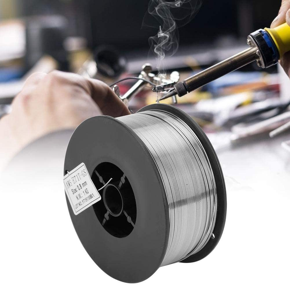 0.8mm//0.03Inch No Gas Self-Shielded High Efficiency Gasless Mig Wire Electric Soldering Wire Accessories 1kg//2.2lbs Flux Cored Welding Wire