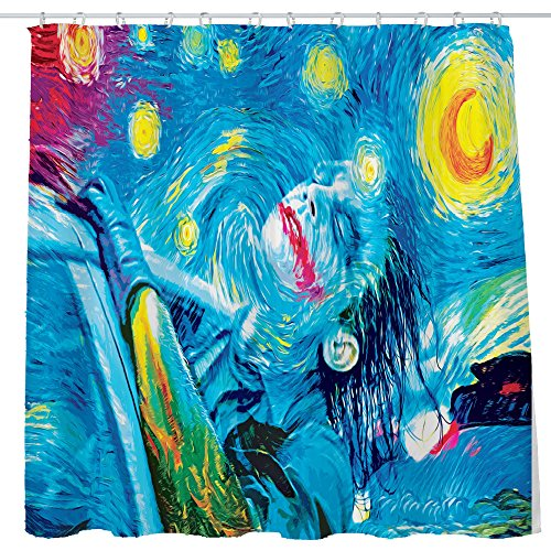 DJSBZ Shower Curtain Cloth Fabric Waterproof Polyester Decoration Washing Room 12 Self Grommets Plastic Rings Psychedelic Trippy Colorful Trippy Abstract Art Joker 72x72 inch (180x180cm) -