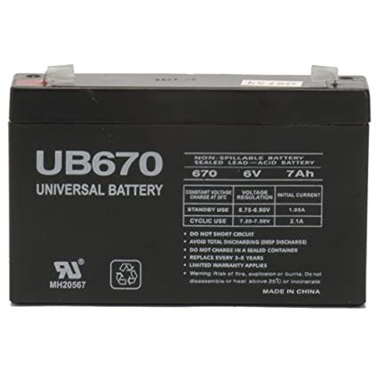 Amazon Com Universal Power Group 6v 7ah Sla Battery For Huffy Bmw