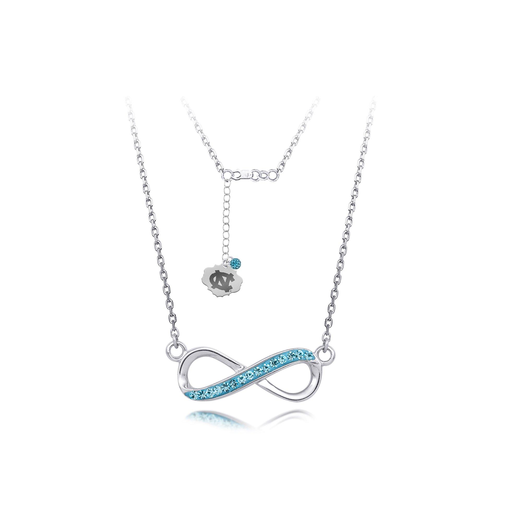 DiamondJewelryNY Silver Pendant, Spirit Infinity Nk/Univ Of N Carolina