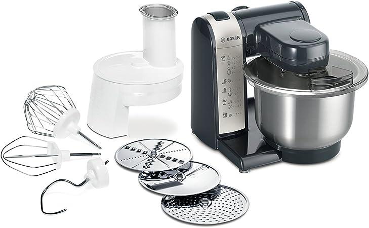 Comprar Bosch MUM48A1 - Robot de cocina, 600 W, capacidad de 3.9 litros, 4 velocidades, color gris y antracita