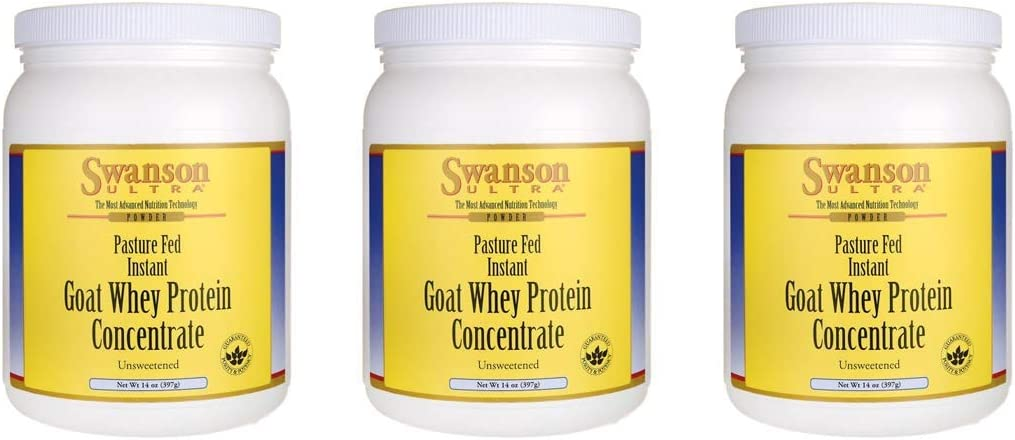 Swanson Goat Whey Protein Concentrate 14 oz Pwdr 3 Pack