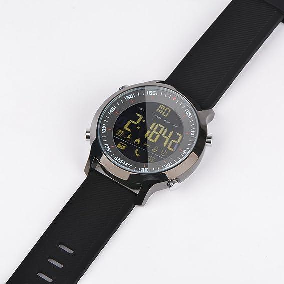 Amazon.com: EX18 Smart Watch Men Sport Watch 5ATM Waterproof ...