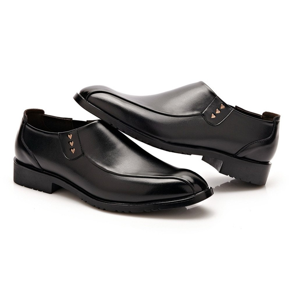 Elegdy Mens Formal Business Oxfords Matte PU Leather Uppers Slip-on Soft Sole Loafers Driving Shoes