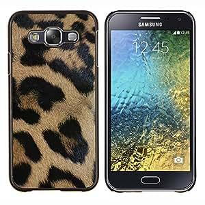 LECELL--Funda protectora / Cubierta / Piel For Samsung Galaxy E5 E500 -- leopardo patrón de negro pelaje marrón de oro --