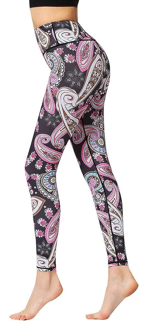 Kegiani Womens Full-Length Yoga Workout Leggings Pants Soft Capri