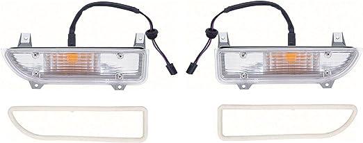 OER Standard Park Lamp Lens and Trim Set 1970-1973 Chevy Camaro Standard Models