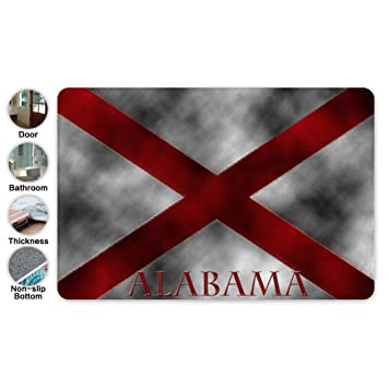 Amazon Com Custom Mat Alabama Flag Remix Cozy Doormat Machine