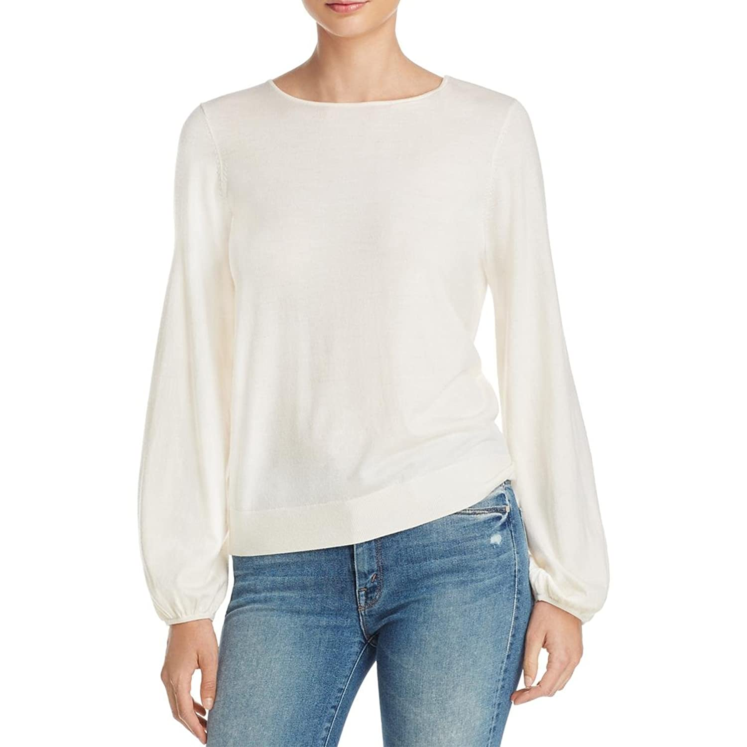 Cheap Elizabeth and James Womens Georgia Bishop Sleeves Solid Knit Top for cheap 2OaD56Vl