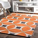 nuLOOM BHBC55A Hand Tufted Gabriela Area Rug, 5' x 8', Deep Orange