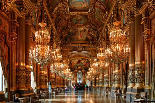 Foyer of the Grand Opera in the Palais Garnier, Paris, Ile de France, France Giclee Art Print Poster or Canvas