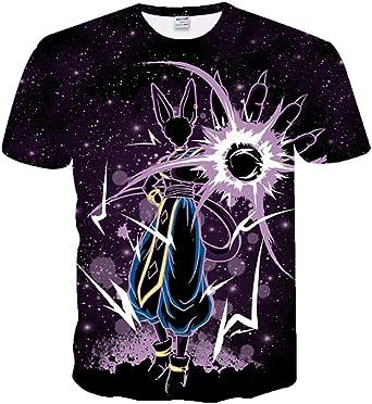 CHENGNT Camisetas Dragon Ball Z Super Son Goku Vegeta3D Impresión Camiseta Unisex 4XL Negro: Amazon.es: Ropa y accesorios