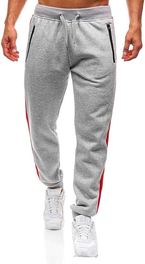 LuckyGirls Pantalón Chándal Hombre Pantalones Color de Mezcla ...