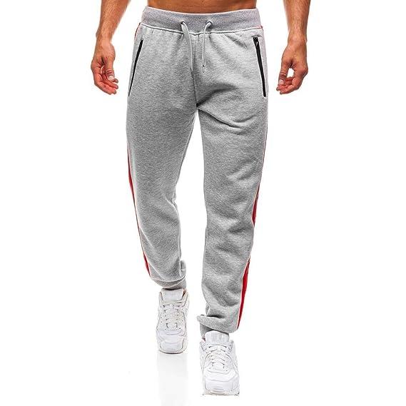 Pantalón Chandal Hombre Deportivo Largos Pantalones Casual Jogging para  Hombre Chándal Entrenamiento Fitness Cómoda Cintura Elástica MMUJERY   Amazon.es  ... b5556f79b355a