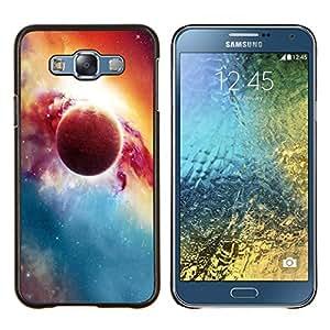 """Be-Star Único Patrón Plástico Duro Fundas Cover Cubre Hard Case Cover Para Samsung Galaxy E7 / SM-E700 ( Hermoso planeta y sol"""" )"""