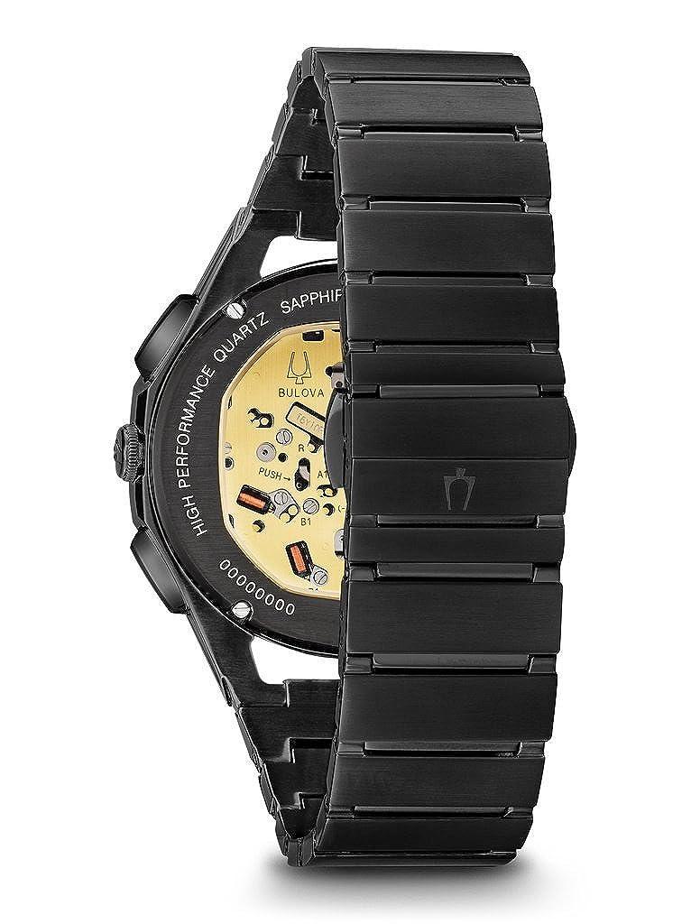 6b712cb81 Amazon.com: Bulova Men's Curv Bracelet - 98A207 Black One Size: Watches