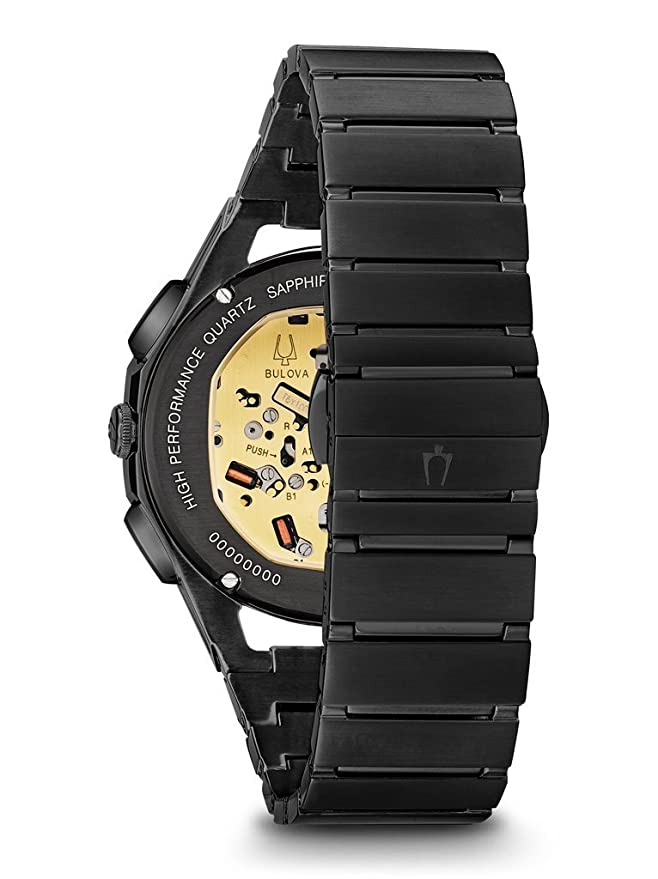 599bcd9d9 Amazon.com: Bulova Men's Curv Bracelet - 98A207 Black One Size: Watches
