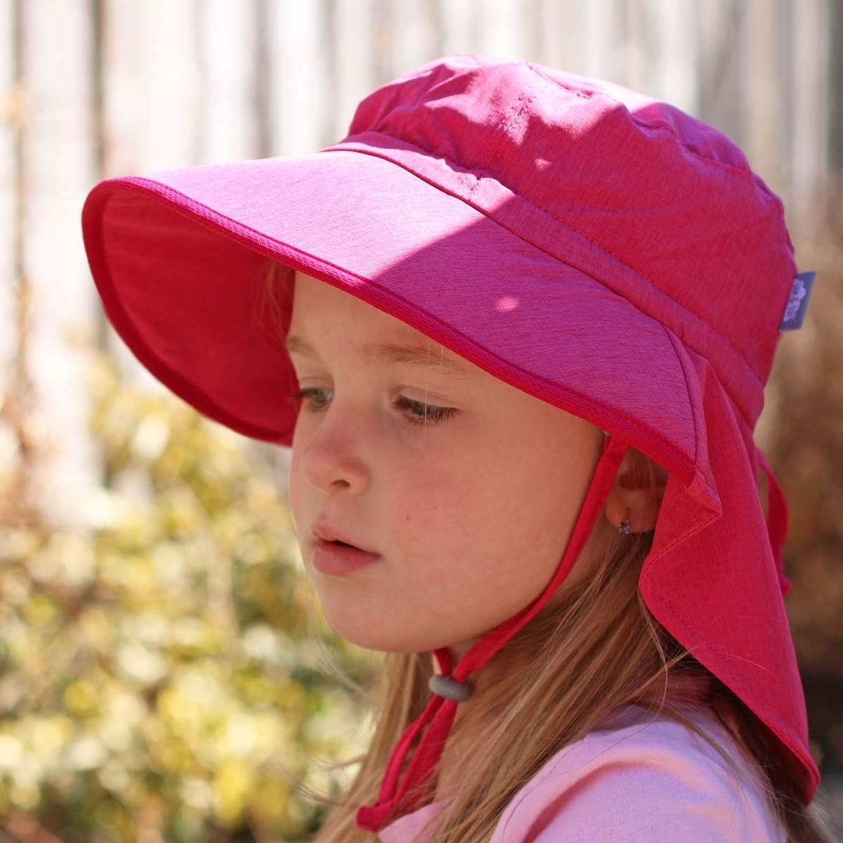 Jan /& Jul Baby Toddler Kids Wide Brim 50 UPF Sun-Hat with Neck Flap Chin-Strap Adjustable