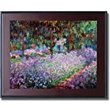 Artist's Garden at Giverny by Monet Mahogany & Black Framed Canvas (Ready-to-Hang)