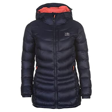 6e68032f3ee5 Karrimor Womens Sub Zero Jacket Down Coat Top Chin Guard High Neck  Lightweight Navy Coral 10 (S)  Amazon.co.uk  Clothing