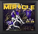 """Minnesota Vikings Framed 15"""" x 17"""" Minnesota Miracle Collage - Facsimile Signatures - NFL Team Plaques and Collages"""