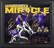 """Minnesota Vikings Framed 15"""" x 17"""" Minnesota Miracle Collage - Facsimile Signatures - NFL Team Plaqu"""