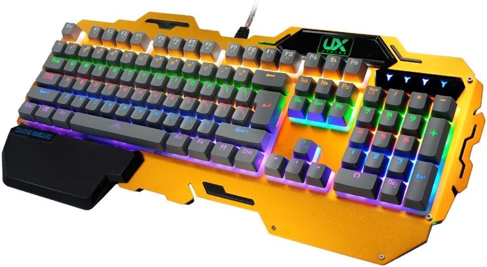 Teclados para gamers Aleación Teclado Mecánico Gaming ...