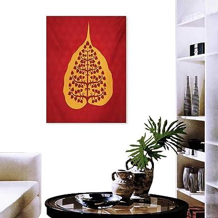 Amazon.com: cobeDecor Leaf Canvas Print Wall Art Artistic ...