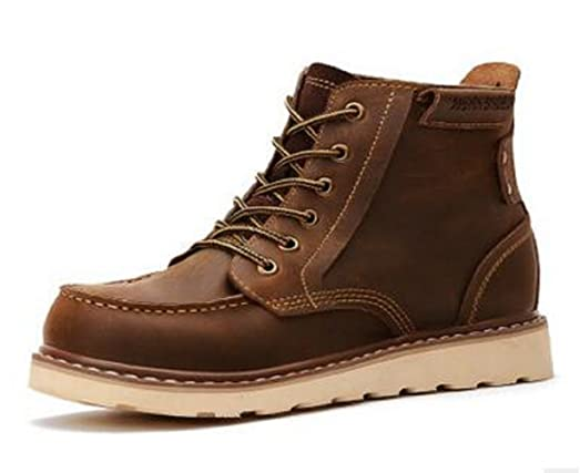 Happyshop(TM) Mens Real Leather Army Boots Martin Boots Snow Boots Fahion Merchant Boots