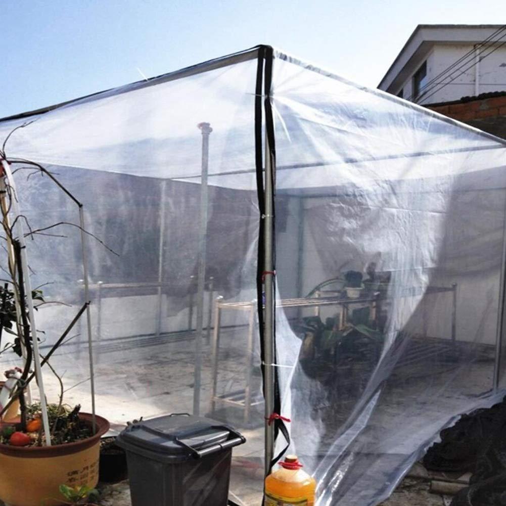 Qing MEI Verdickter Rand Perforiertes Transparentes Transparentes Transparentes Wasserdichtes Fenster Windundurchlässiges Plastikgewebe Blaumenbetriebsisolierung Regendichte Plastikfolie A (größe   2x6m) B07J45ZMJB Zeltplanen Sonderangebot 48b7bc