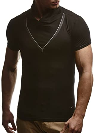 LEIF NELSON Herren T-Shirt Sweatshirt Slim Fit LN670  Amazon.de  Bekleidung c0992ca7d2