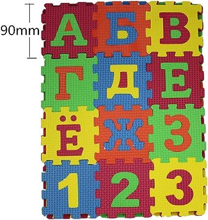 90cm Russian Arabic Alphabet Kids Carpet Foam EVA Shaggy Puzzle ...