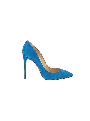 meilleure sélection db906 aeabb Christian Louboutin Femme 1170340U156 Bleu Claire Suède ...