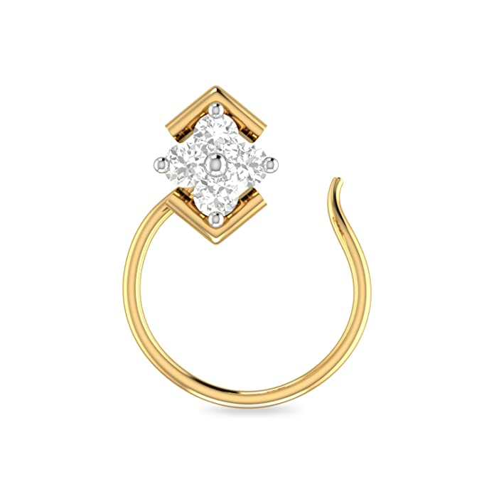 PC Jeweller The Brandubh 22KT Yellow Gold Nosepin Nose Pins