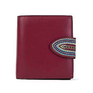 Amazon.com: Monedero corto para mujer, estilo étnico bordado ...