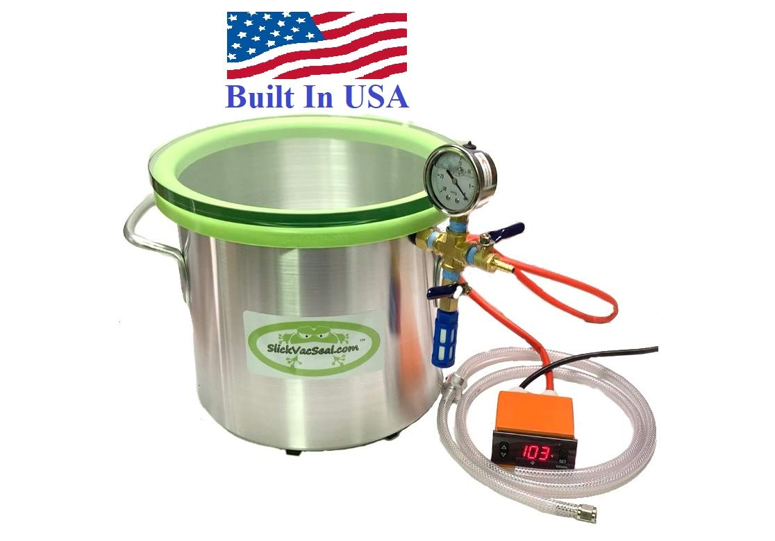 3 -Gallon Heated Vacuum Chamber with Temp Glass