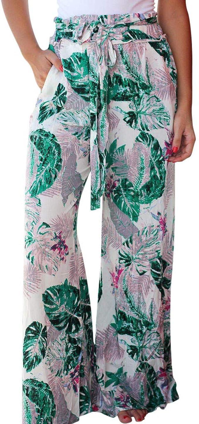 cinnamou Pantalones Mujer, Pantalones Anchos Sueltos: Amazon.es ...