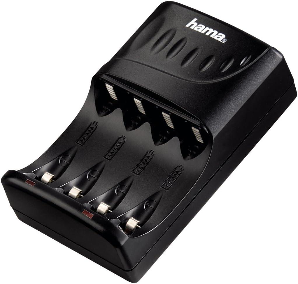 Hama 00087089 - Cargador para 4 Pilas (AA/AAA, LED), Color Negro: Amazon.es: Electrónica
